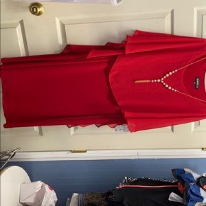 Red out on the town dress